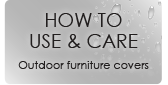 How to care and use your outdoor furniture covers from Polytuf